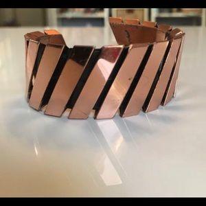 MCM Renoir Matisse Modernist Copper Slant Cuff